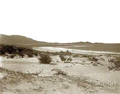 Photograph - Carmel Beach, Carmel Point And Point Lobos Circa 1925 by California Views Mr Pat Hathaway Archives