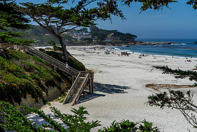 Photograph - Carmel Beach Stairs by Derek Dean
