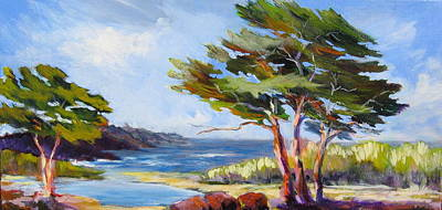 Carmel By The Sea Art Print by Barbara Moore