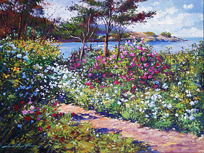 Painting - Carmel By The Sea - Garden by David Lloyd Glover