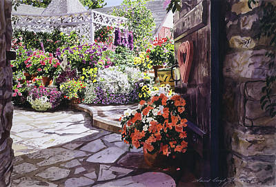 Gazebo Painting - Carmel Garden Gate by David Lloyd Glover