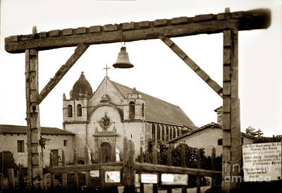 Photograph - Carmel Mission 1928 by California Views Mr Pat Hathaway Archives