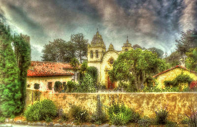 Religious Art Mixed Media - Carmel Mission Church 2 by Reese Lewis
