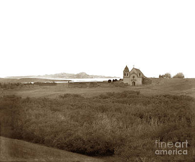 Photograph - Carmel Mission California Circa 1885 by California Views Mr Pat Hathaway Archives