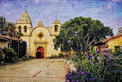 Photograph - Carmel Mission Courtyard, Carmel. California by Flying Z Photography by Zayne Diamond