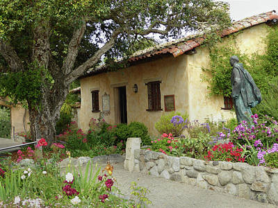 Carmel Mission Grounds Art Print by Gordon Beck