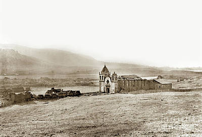 Photograph - Carmel Mission, Near Monterey Circa 1882 by California Views Archives Mr Pat Hathaway Archives