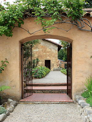 Photograph - Carmel Mission Path by Carol Groenen