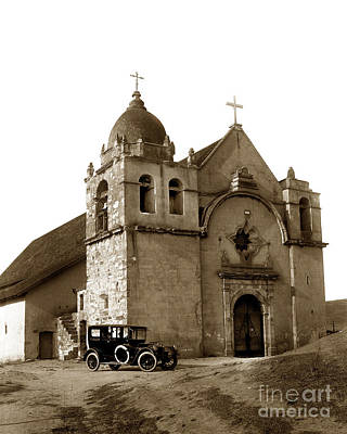 Photograph - Carmel Mission Photo By Lewis Josselyn Of Carmel Taken In 1919 by California Views Mr Pat Hathaway Archives