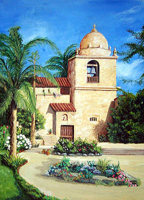 Painting - Carmel Mission by Ronald Lightcap
