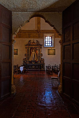 Photograph - Carmel Mission Side Altar by Thomas Hall