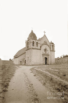 Photograph - Carmel Mission South Side Circa 1915 by California Views Mr Pat Hathaway Archives