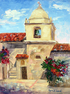 Iconic Painting - Carmel Mission, Summer by Karin Leonard