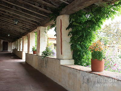 Photograph - Carmel Mission Walkway by Carol Groenen