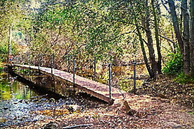 Photograph - Carmel River Footbridge At Garland Ranch 2 Oil by Joyce Dickens