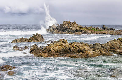 Photograph - Point Lobos Surf by Alan Toepfer