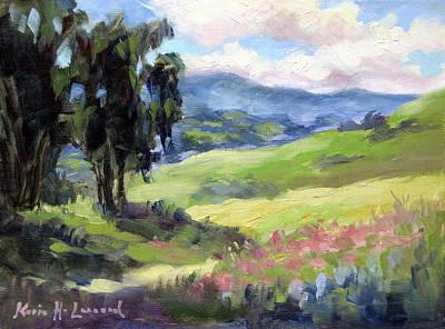 Carmel Valley Painting -  Carmel Valley Spring by Karin Leonard