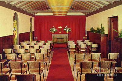 Photograph - Carmel Wedding Chapel At Carmel Highlands Inn Circa 1960 by California Views Archives Mr Pat Hathaway Archives