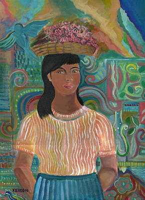 Art Print featuring the painting Carmelita by John Keaton