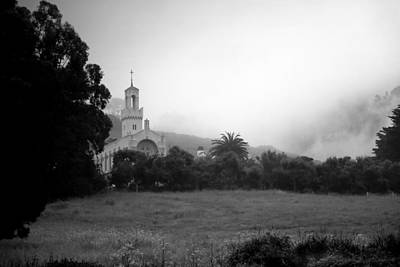 Photograph - Carmelite Monastery Fog B And W by Joyce Dickens