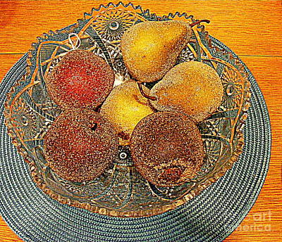 Photograph - Carmelized Pears And Crystal by Nancy Kane Chapman