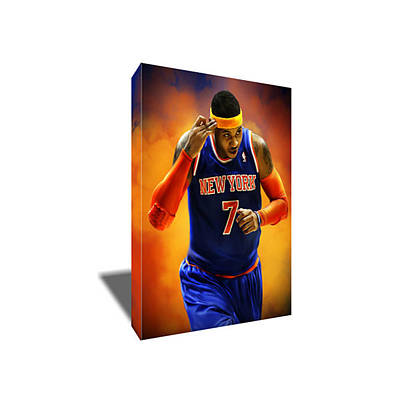 Carmelo Anthony Painting - Carmelo Anthony Canvas Art by Artwrench Dotcom
