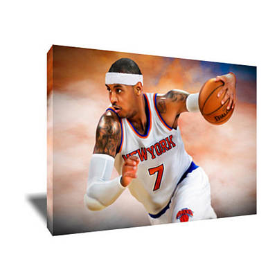 Carmelo Anthony Painting - Carmelo Anthony IIi Canvas Art by Artwrench Dotcom