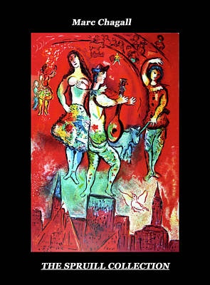 Painting - Carmen By Marc Chagall by Everett Spruill