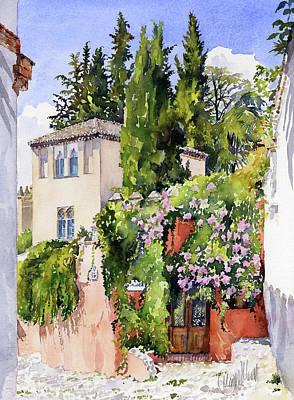 Painting - Carmen De La Media Luna Granada by Margaret Merry