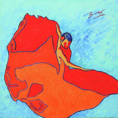 Painting - Carmen Flamenco Dancer by Xueling Zou