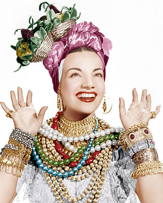 Carmen Miranda, Ca. Late 1940s Art Print by Everett