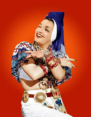 Red Nail Polish Photograph - Carmen Miranda, Ca. Mid-1940s by Everett