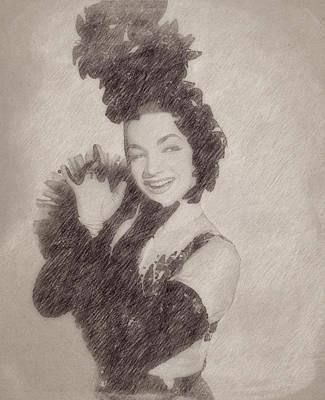Celebrities Paintings - Carmen Miranda by Esoterica Art Agency