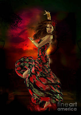 Digital Art - Carmen by Shanina Conway