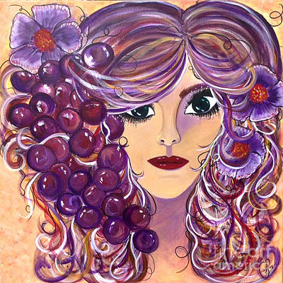 Wine Accessories Painting - Carmenita by Go Inspire Beauty