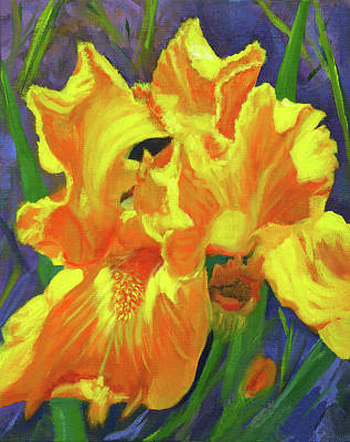 Painting - Carmen's Iris by Vicki VanDeBerghe