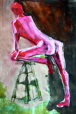 Painting - Carmine Figure No. 3 by Nancy Merkle