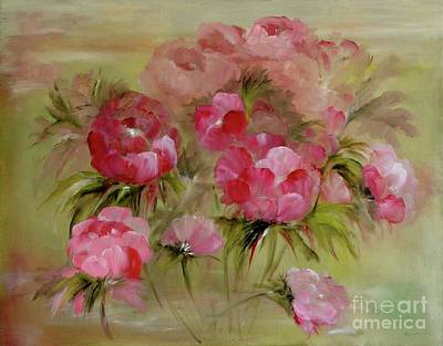 Painting - Carmine Rose by Carol Sweetwood