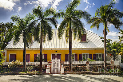 Charming Historic House In St Thomas Print by George Oze