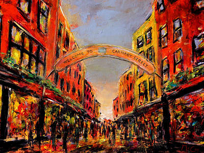 Painting - Carnaby Street London by K McCoy