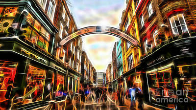 Mixed Media - Carnaby Street by Marvin Blaine