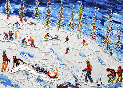 Snowboarder Painting - Carnage by Pete Caswell