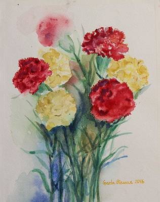 Painting - Carnation Flowers Still Life by Geeta Biswas
