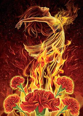 Mixed Media - Carnation - Rebirth by Anne Wertheim