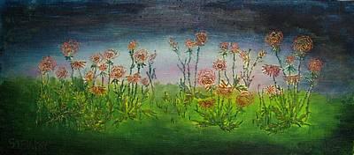 Carnations At Dusk Art Print by Jacob Stempky
