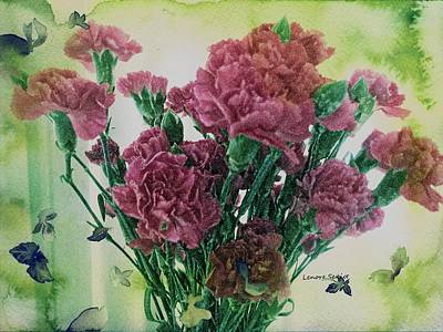 Photograph - Carnations For My Birthday by Lenore Senior
