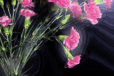 Photograph - Carnations by Mike Eingle