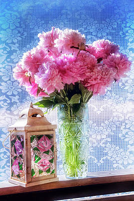 Photograph - Carnations On The Windowsill by Debra and Dave Vanderlaan