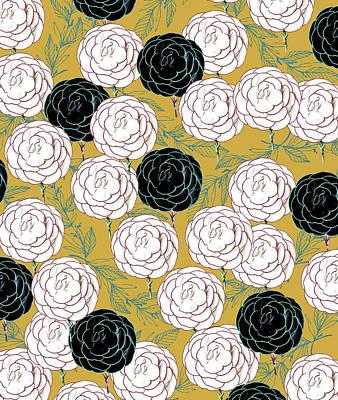 Digital Art - Carnations by Uma Gokhale