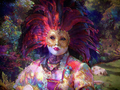 Mixed Media - Carnaval Character 2 by Lilia D